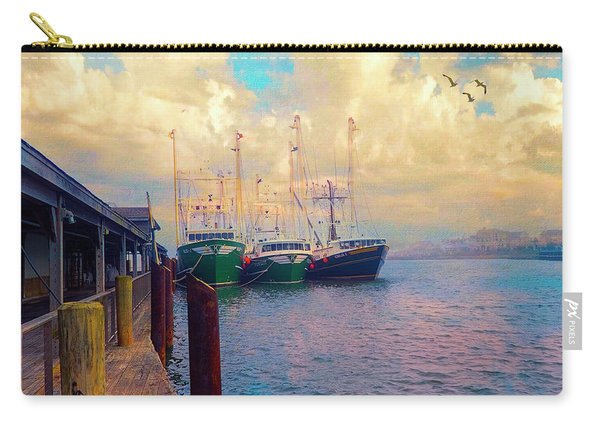 The Docks At Cape May Carry-all Pouch