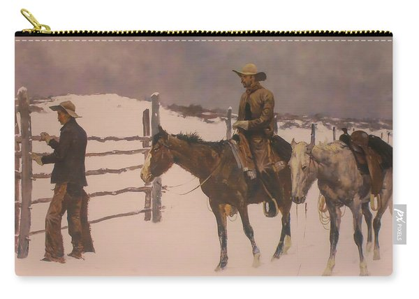 The Fall Of The Cowboy Carry-all Pouch