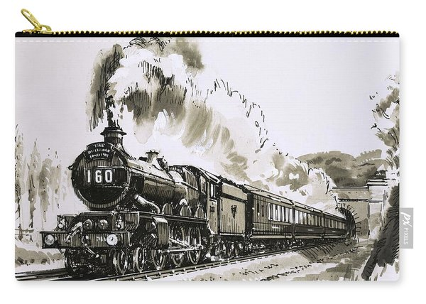 The Famous 4-6-0 Castle Class Of Steam Locomotives Used By Great Western Carry-all Pouch