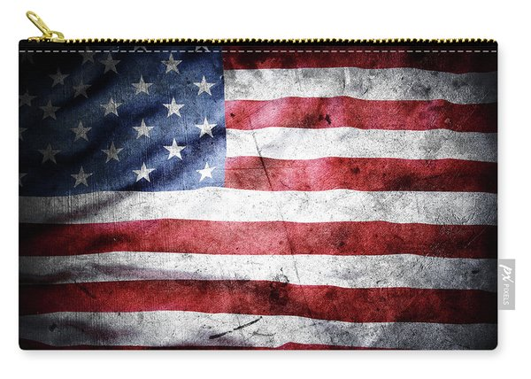 The Grunge American Flag Carry-all Pouch