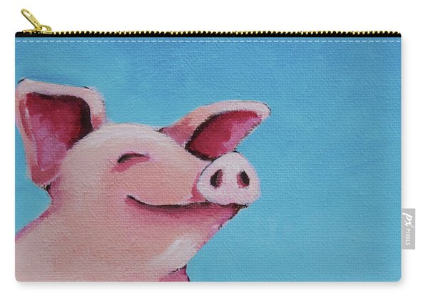 The Happiest Pig Carry-all Pouch