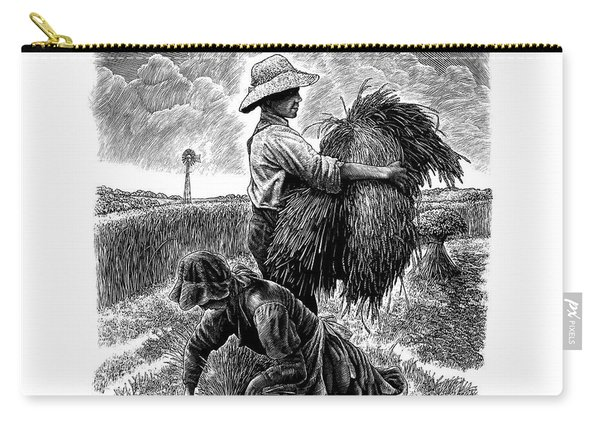 The Harvesters - Bw Carry-all Pouch