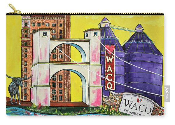 The Heart Of Waco Carry-all Pouch