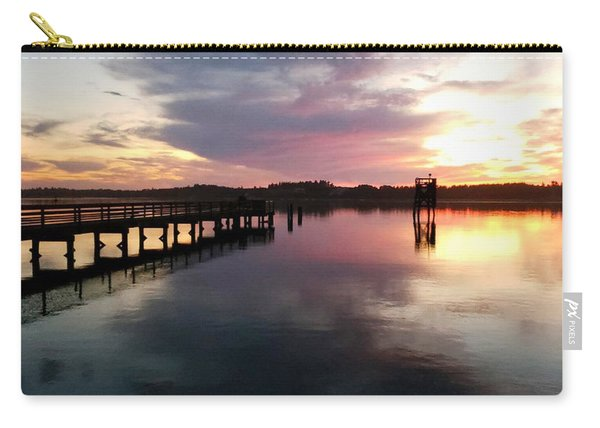 The Hollering Place Pier At Sunset Carry-all Pouch