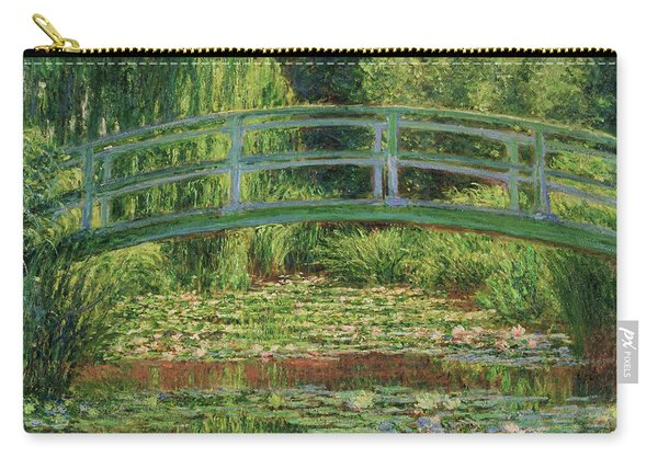 The Japanese Footbridge And The Water Lily Pool - Digital Remastered Edition Carry-all Pouch