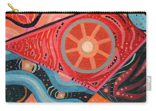 Carry-all Pouch featuring the painting The Joy Of Design L I I I by Helena Tiainen