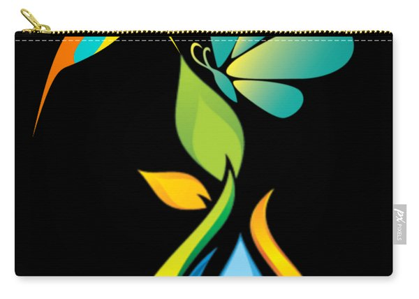 The Kissing Flower And The Butterfly On Flower Bud Carry-all Pouch