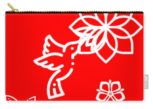 The Kissing Flower On Flower Carry-all Pouch