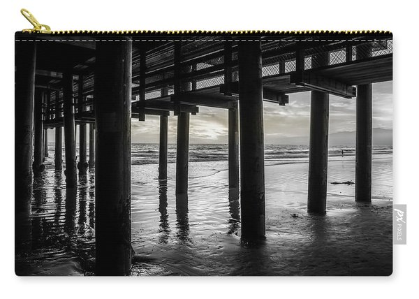 The Light Downunder - B And W Carry-all Pouch