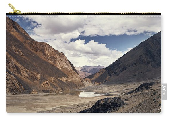 Carry-all Pouch featuring the photograph The Long Journey by Whitney Goodey