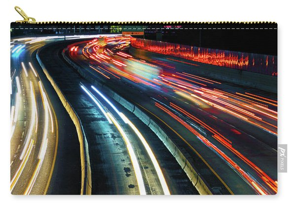 The Long Road To Dallas - Dallas Skyline - Tom Landry Freeway Carry-all Pouch