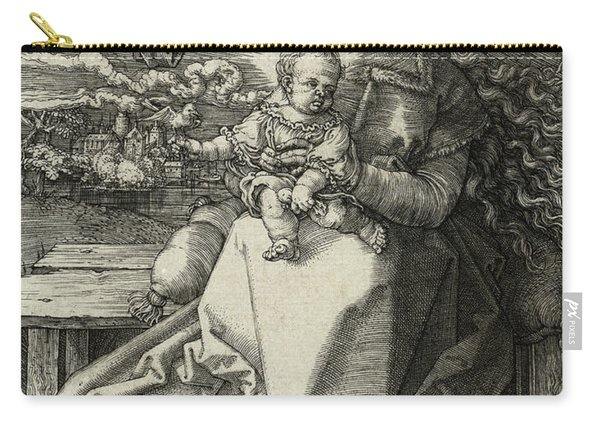 The Madonna Crowned By An Angel, 1520  Carry-all Pouch