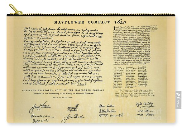 The Mayflower Compact  Carry-all Pouch
