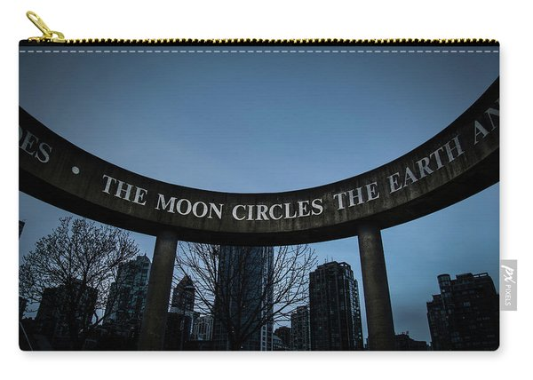 Carry-all Pouch featuring the photograph The Moon Circle by Juan Contreras