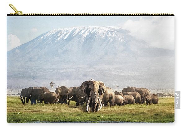 The Patriarch Of Amboseli Carry-all Pouch