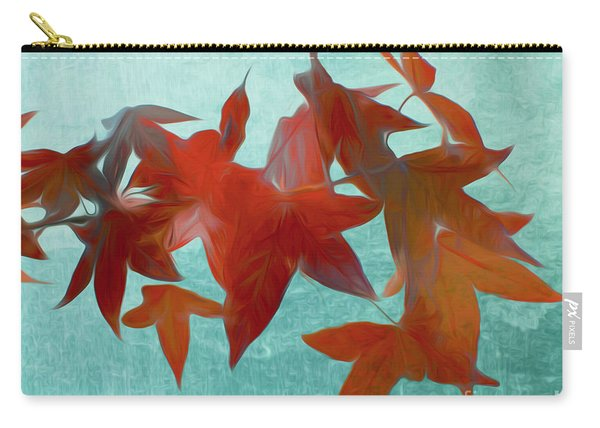 The Red Leaves Carry-all Pouch
