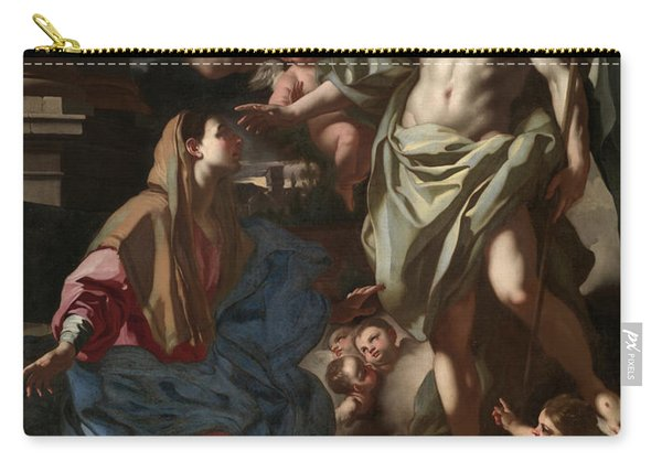 The Risen Christ Appearing To The Virgin, 1708 Carry-all Pouch