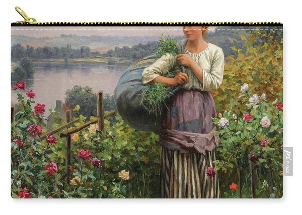 The Rose Garden, 19th Century Carry-all Pouch
