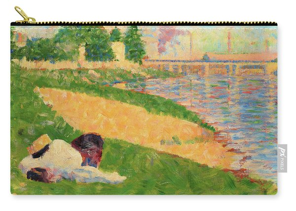 The Seine With Clothing On The Bank - Digital Remastered Edition Carry-all Pouch