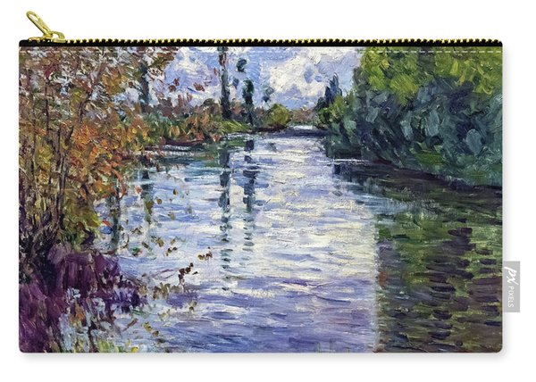 The Small Arm Of The Seine In Autumn - Digital Remastered Edition Carry-all Pouch