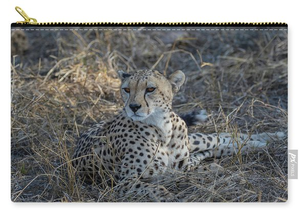 Cheetah In Repose Carry-all Pouch