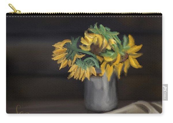 Carry-all Pouch featuring the painting The Sun Flowers  by Fe Jones