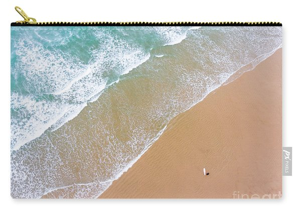 The Surfer And The Sea Carry-all Pouch