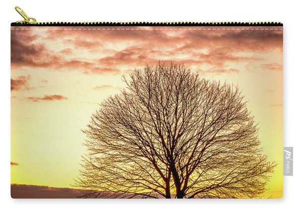 Carry-all Pouch featuring the photograph The Tree by Jeff Sinon