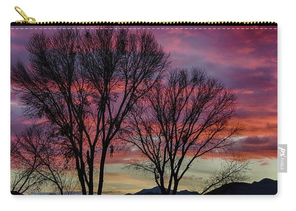 The Trees Know Sunset Carry-all Pouch