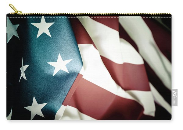 The Usa Flag Carry-all Pouch