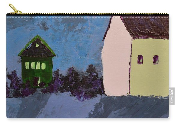 The Village At Night Carry-all Pouch