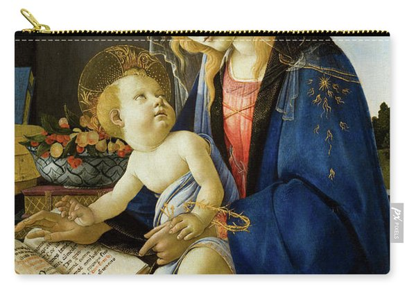 The Virgin And Child, The Madonna Of The Book Carry-all Pouch