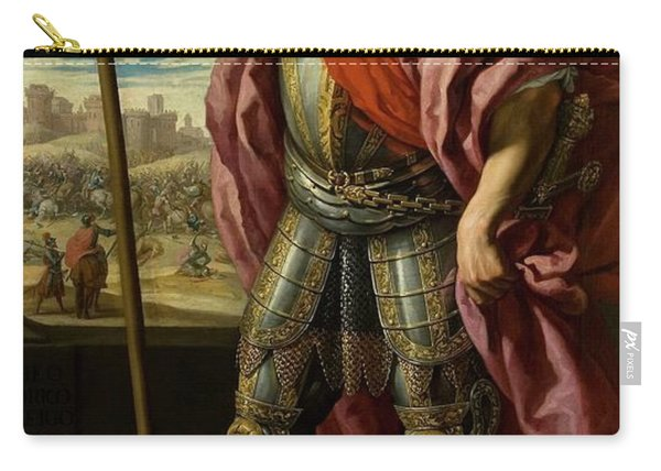 'theodoric, Visigoth King', 1635, Spanish School, Oil On Canvas, 205 Cm X 118 Cm... Carry-all Pouch