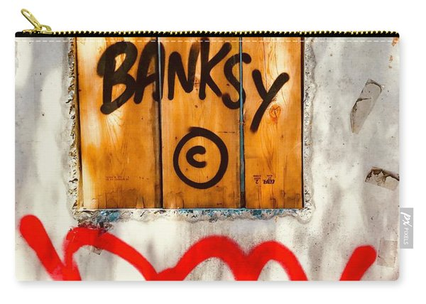 This Banksy Will Not Disappear Carry-all Pouch