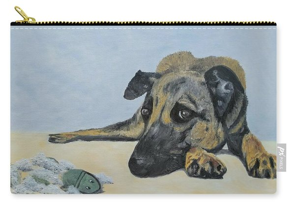 Carry-all Pouch featuring the painting This Toy Is Defective by Kevin Daly