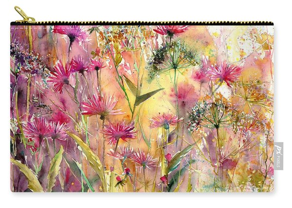 Thistles Impression Carry-all Pouch