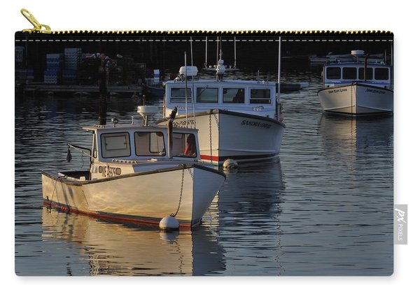 Three Boats In Maine Carry-all Pouch
