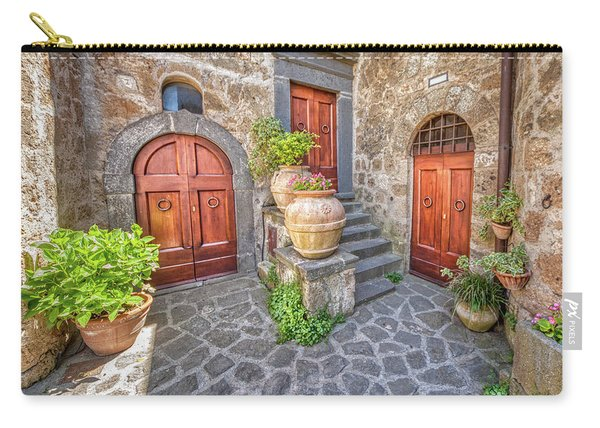 Three Doors Of Tuscany Carry-all Pouch