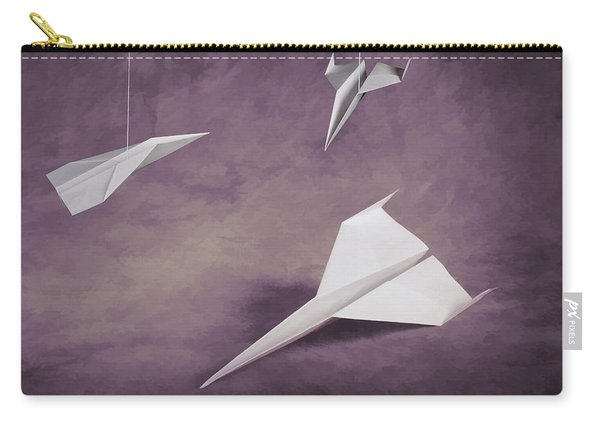 Three Paper Airplanes Carry-all Pouch