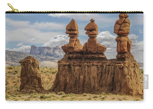 Three Sisters Hoodoos Goblin Valley State Park Carry-all Pouch