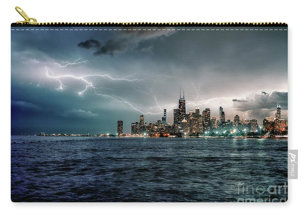 Thunder And Lightning In The Dark City II Carry-all Pouch