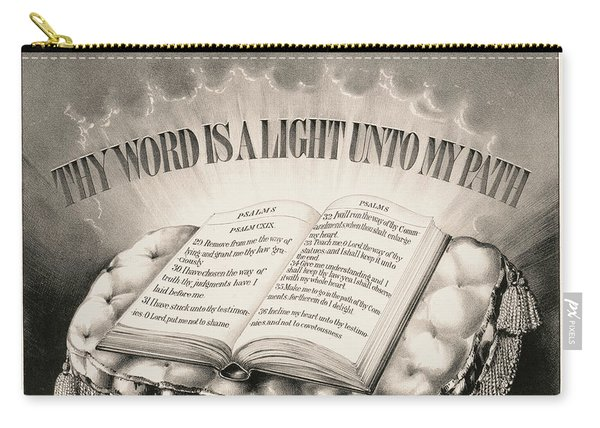 Thy Word Is A Light Unto My Path, 1872 Carry-all Pouch