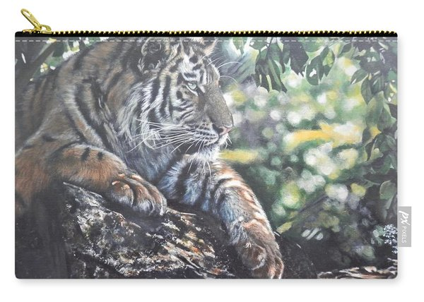 Tiger In Dappled Light Carry-all Pouch