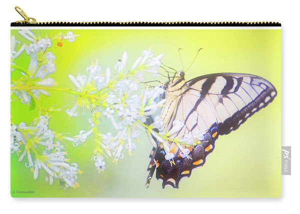 Tiger Swallowtail Butterfly On Privet Flowers Carry-all Pouch
