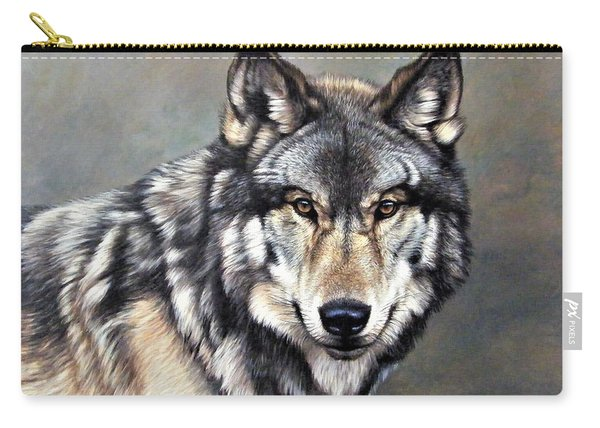 Timber Wolf By Alan M Hunt Carry-all Pouch