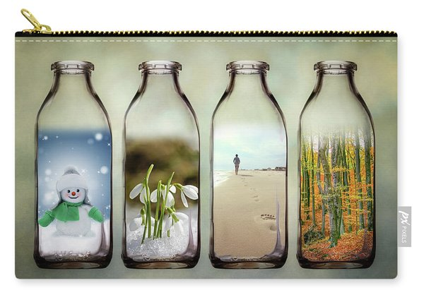 Time In A Bottle - The Four Seasons Carry-all Pouch