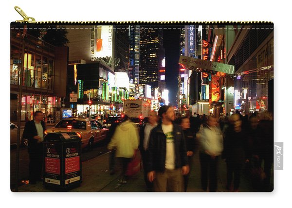 Carry-all Pouch featuring the photograph Time Square, Two by Edward Lee