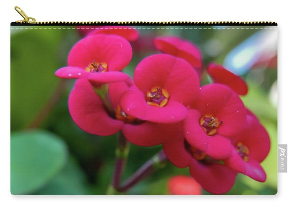Tiny Red Flowers Carry-all Pouch