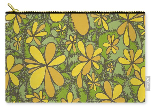 To Wander In The Fields Of Flowers Pull The Thorns From Your Heart Rumi Quote Carry-all Pouch
