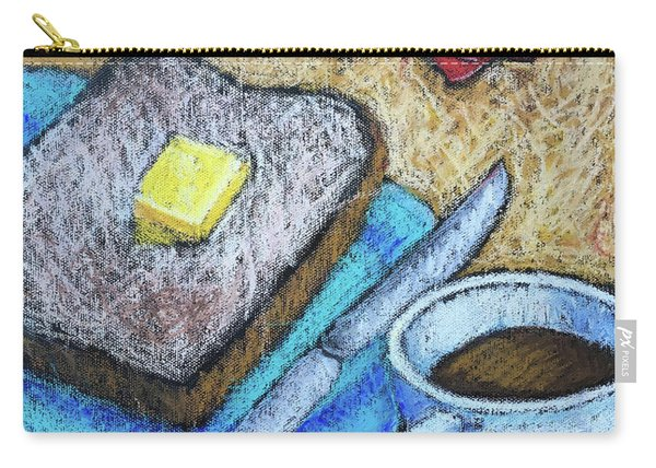Toast And Roses Carry-all Pouch